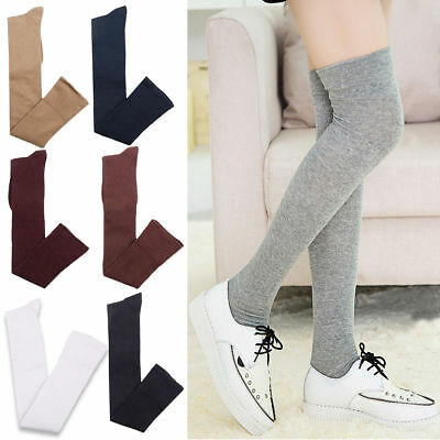 Fashion Ladies Women Girl Thigh High OVER the KNEE Socks Long Cotton Stocking 01