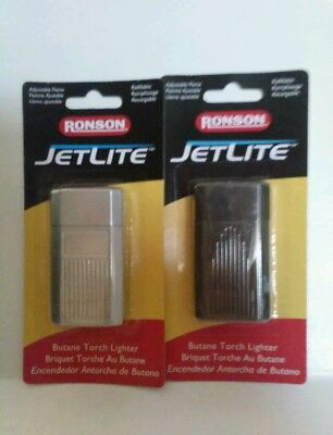 Lot of 2 Jetlite Butane Lighters Ronson Torch Lighter by Zippo Manufacturing