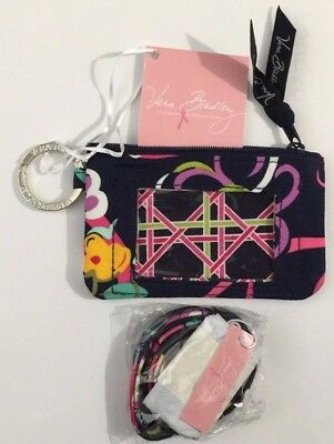 NWT VERA BRADLEY ZIP ID CASE AND LANYARD SET  Ribbons GIFT