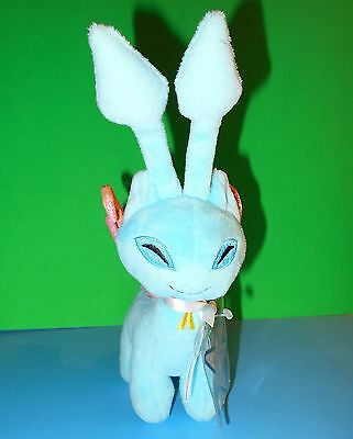 """Aisha Blue Faerie Neopets Plush Pink Wings Yellow A Chest 2008 Series 3 9"""" NWTs"""