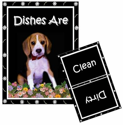 DOG DISHWASHER MAGNET (Beagle) - Clean/Dirty *Ship FREE
