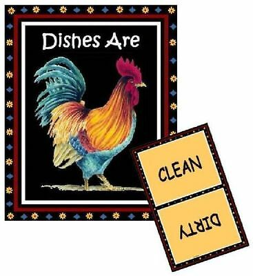 ROOSTER #2 - Dishwasher MAGNET (Clean/Dirty) SHIP FREE!