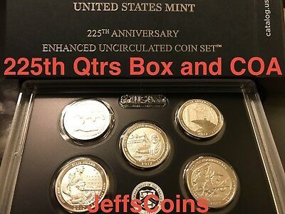 2017 S Enhanced Uncirculated US Mint Set ATB Quarters only with Box & COA Clark