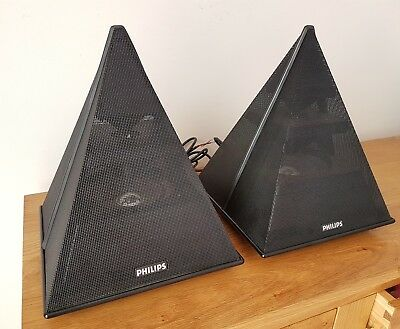 Philips type 22AV1993/O1 vintage pyramid speakers