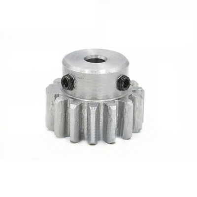 1Pcs 45# Steel Spur Gear 1.5Mod 12T Outer Diameter 21mm Bore 5/6/6.35/8mm