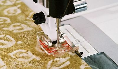Husqvarna Viking Clear 1/4″ Piecing Foot with Guide