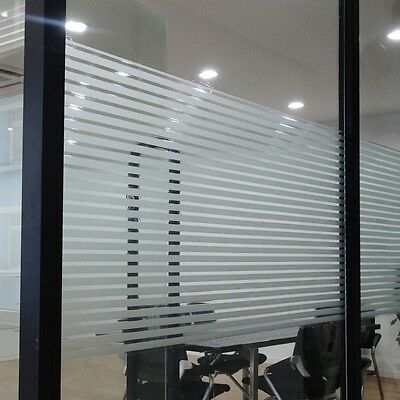 Window Film Striped Shutters Sticker For Home Office Privacy Frosted 45x200cm