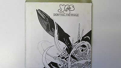 """Yes: Don't Kill The Whale 7"""" vinyl. Made in Germany. ATL11184"""