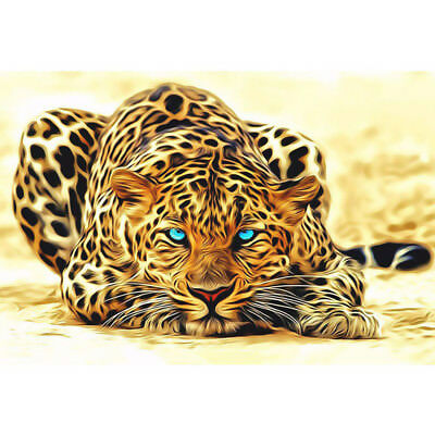 Home Decor Canvas Paint By Numbers Set Digital Oil Painting DIY Leopard No Frame