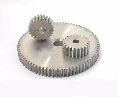 1Pcs 1Mod 55T Spur Gears 45# Steel Gears Thickness 10MM Tooth Diameter 57MM