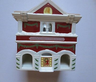 Lenox Holiday Village Fire Station Votive