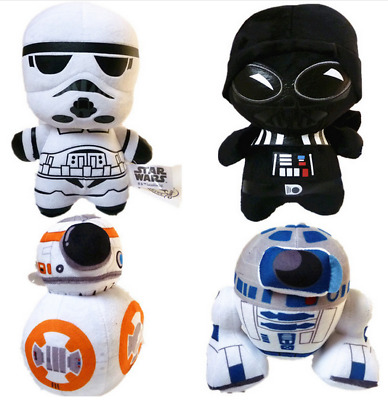 10-20cm Star Wars Plush Force Awakens Stuffed Doll BB8 Darth Vader R2D2 Soft Toy