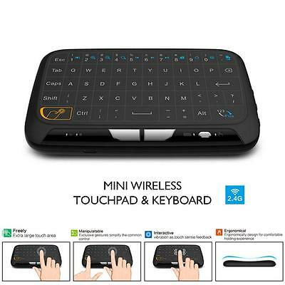 Top H18 Mini Wireless Keyboard Full Screen Large Touchpad Air Mouse Durable DL