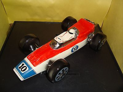 Vintage 1970 Ezra Brooks #10 Indy Race Car Heritage Seagram 7 Whiskey Decanter