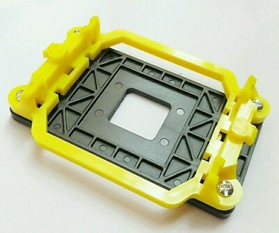 Soporte Amarillo Disipador Ventilador CPU Socket AMD AM2 AM3 FM1 FM2 Placa Base