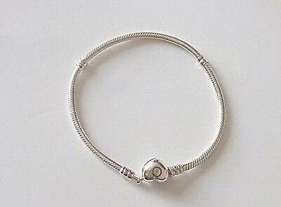 Genuine Silver Pandora Moments Silver Bracelet With Heart Clasp Charm