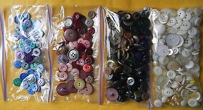 Lot of Vintage Buttons Somewhat sorted 1940's 1950's 1960's Plastic & Some Metal