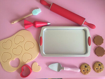 """18"""" doll cookies baking sheet bakery rolling pin our generation american girl"""