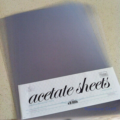 Clear A4 Acetate Sheet (210 x 297mm) for Card Making 5, 10 or 20 sheets U select