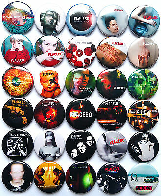 PLACEBO Pins Button Badges Set Lot of 30 plus gift badge