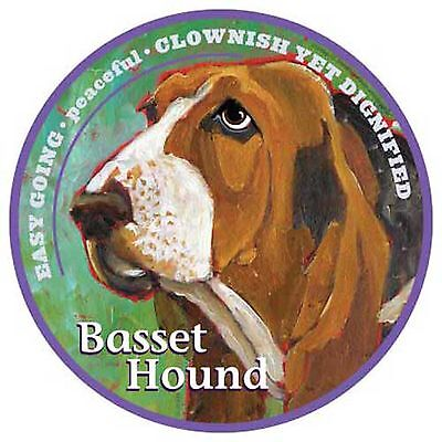 Mad Mags BASSET HOUND Car Magnet Decal dog