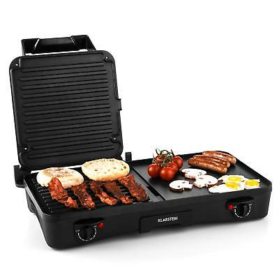 2 in 1 ELECTRIC TABLE GRILL GRIDDLE BBA SKILLET HOT PLATE CONTACT GRILL PRESS