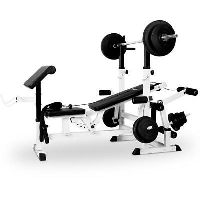 Home Fitness Multi Gym Weight Bench Press Incline Arm Curl Triceps Chest Machine