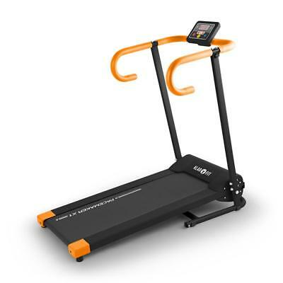 Electric Treadmill Exercise + Heart Rate Computer Foldable 1-10 Kmph White Blue