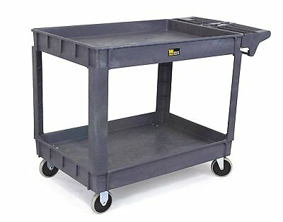 Utility Service Cart Extra Large 500-Pound Capacity Portable Rolling Work