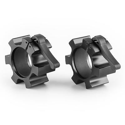 Capital Sports Dumbell Lock Pair 50 Mm Barbell Clamps Weights Black Gym Safety