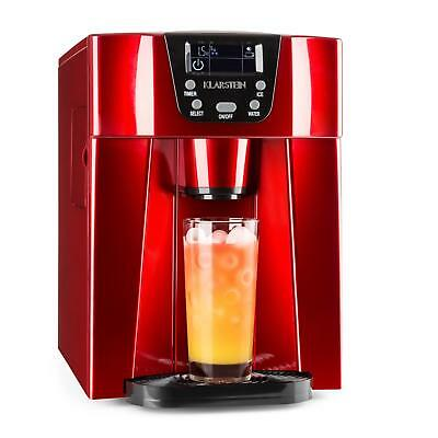 Klarstein Ice Maker Bar Machine Cocktails Drinks Chill 2 L Water Tank Red Led