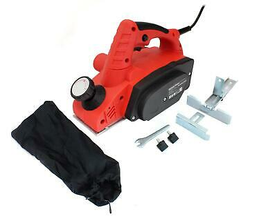 Voche® 900W Electric Power Planer Wood Plane Parallel Rebate Guides & Dust Bag