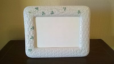 Belleek shamrock decorated porcelain photo frame