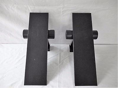 Gammalux Italy Halogen Pair Anodized Aluminum Black Wall Sconces