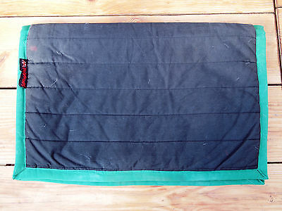 Classic PolyPad Single Thickness Black with Green Trim 70cm Numnah Saddle Cloth