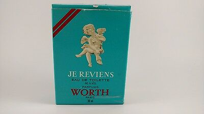 Worth Je Reviens 1oz 30ml Women's Eau de Cologne Parfume Made in France c.9503