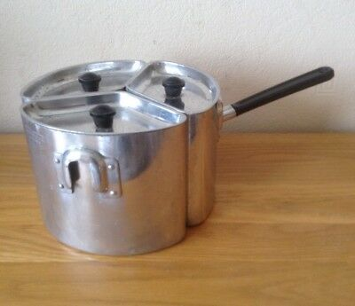 Vintage Retro Swan Aluminium Triple Pan One Ring Cooking Camping VW Campervan