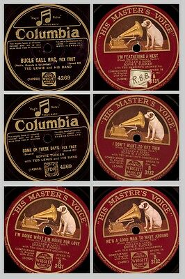 "3x SOPIE TUCKER ""He's a good man to have around"" u.a. typische Titel  78' Set425"