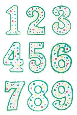 Wilton Numeral Birthday Candles, Polka Dot Cake Topper Decoration Patry Supplies