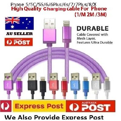 iPhon 6s Plus 5s 8 7 Plus Data Charger USB charging Cable Cord IOS10 IOS 9 AUS