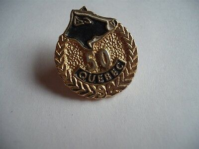 Holstein Cow Quebec Canada  Hat Lapel Pin Button Club Assoc Gold 50 Anniversary