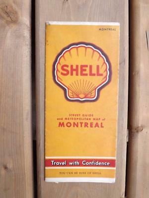 Street Guide And Metropolitan Map Montreal Shell Gas Service Station Advertising