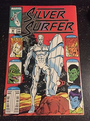 Silver Surfer#20 Incredible Condition 9.2(1989) Galactus, Super Skrull,Lim Art!!