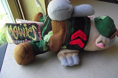 Meanies Series 1 Armydillo Dan Plush Military Army Collectible Armadillo Animal
