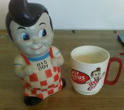 BIG BOY Elias Brothers Restaurants PLASTIC BANK and CUP