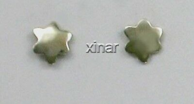 Far Fetched Sterling Silver Hammered Stars Stud or Post Earrings