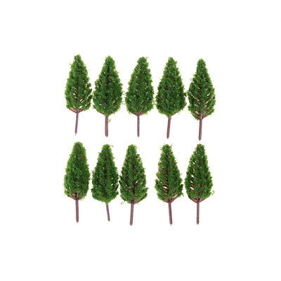 10pcs/Set 68mm Plastic Model Trees For Park Street  landscape Scene Scenery ev