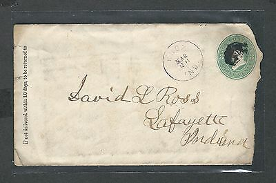 mjstampshobby 1870 US Cover VF Cond Vintage RARE (Lot1448)