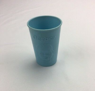 Vintage GERBER BABY Soft Blue Plastic Baby Drink Cups Made in USA