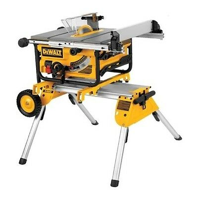 DEWALT DW745RS Table Saw With Rolling Legstand